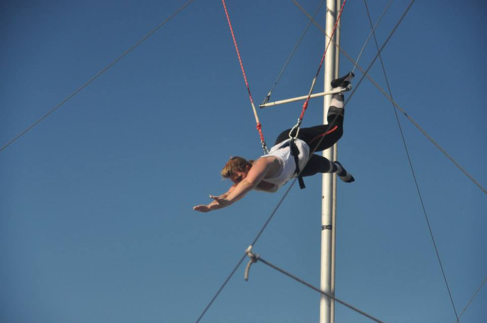 Trapeze pic to connect to how it's like learning keto
